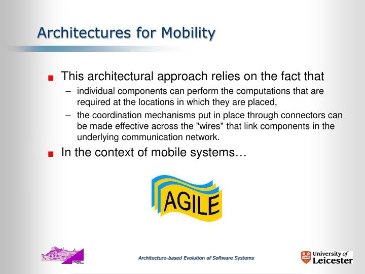 Architectures for Mobility