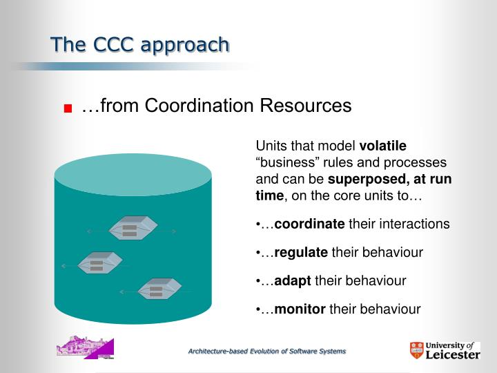 The CCC approach