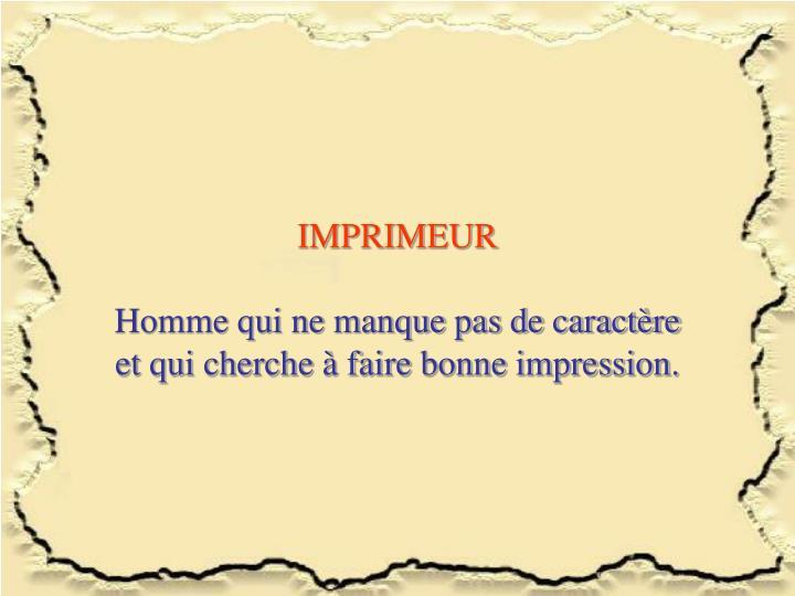 IMPRIMEUR