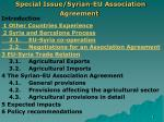 special issue syrian eu association agreement