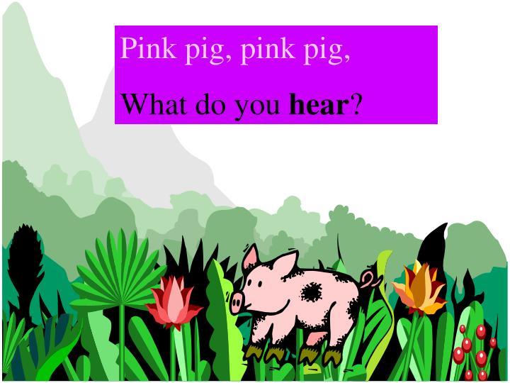 Pink pig, pink pig,