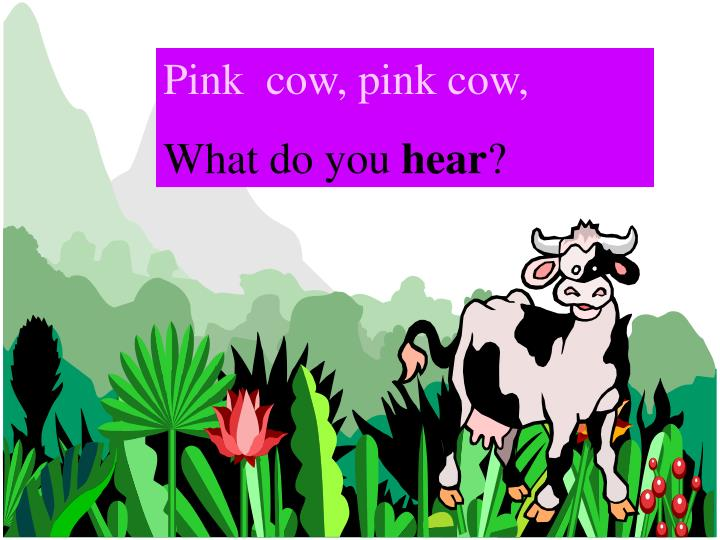 Pink  cow, pink cow,
