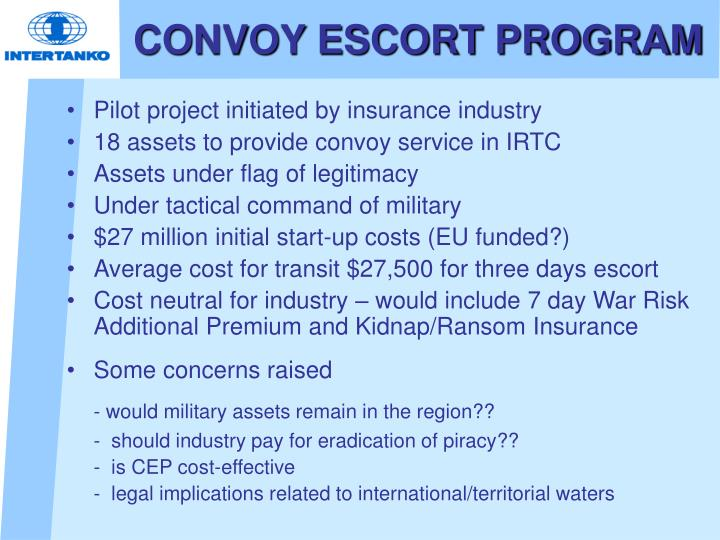 CONVOY ESCORT PROGRAM