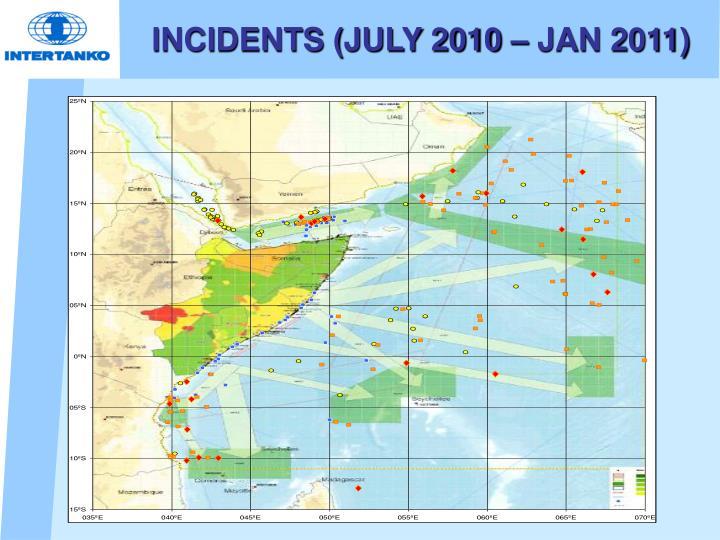 INCIDENTS (JULY 2010 – JAN 2011)
