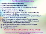 problems constraints