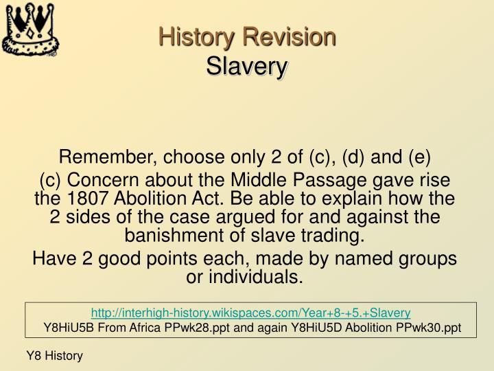 History Revision