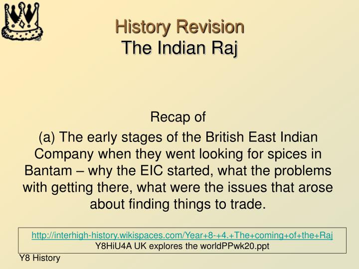 History revision the indian raj