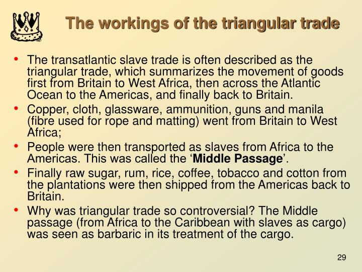 The workings of the triangular trade