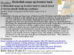 hezbollah snaps up frontier land