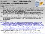 syria s military exercise