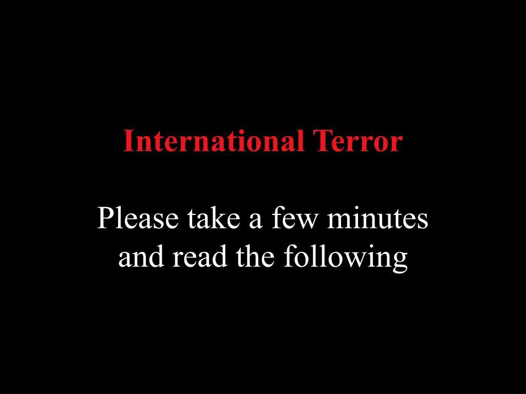 International Terror