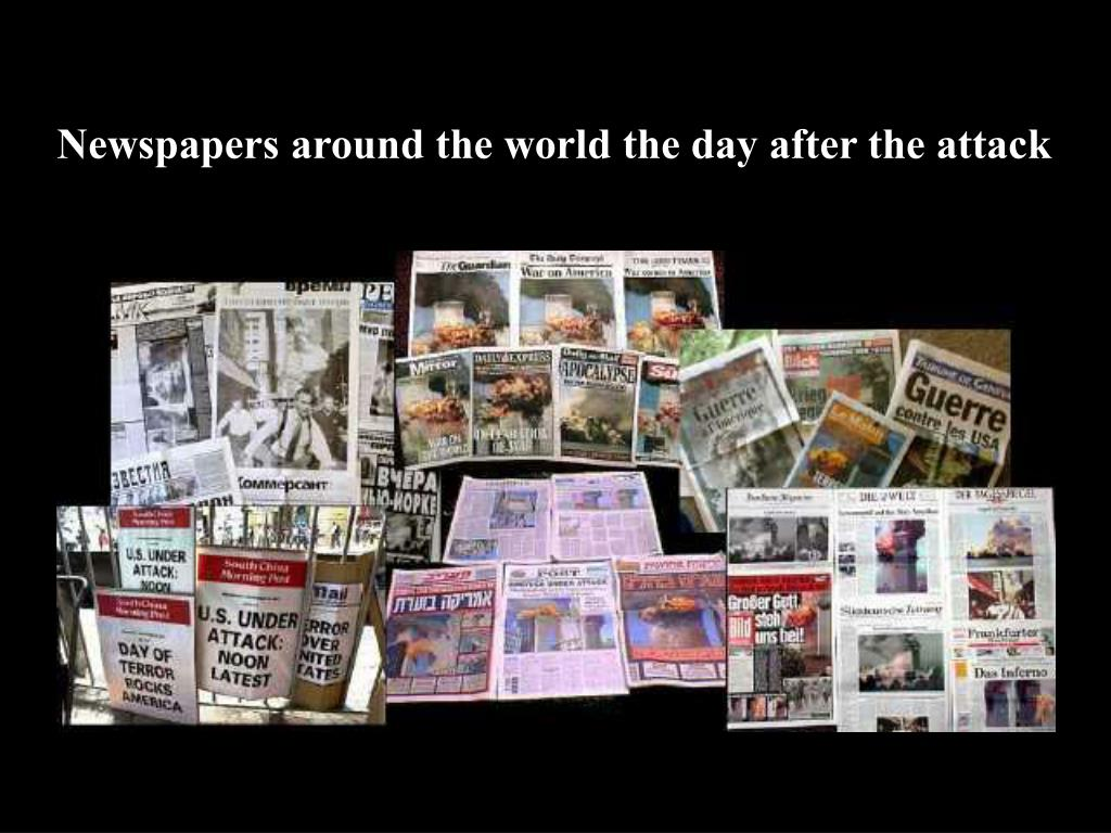 Newspapers around the world the day after the attack