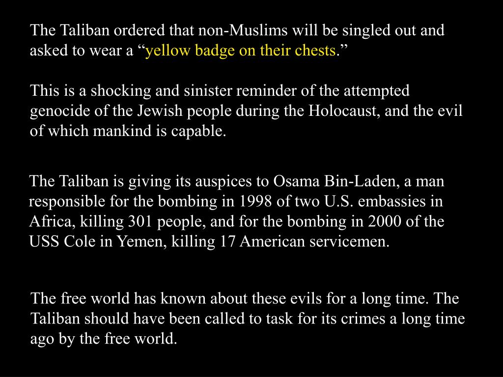 """The Taliban ordered that non-Muslims will be singled out and asked to wear a """""""