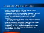 language oppression iraq