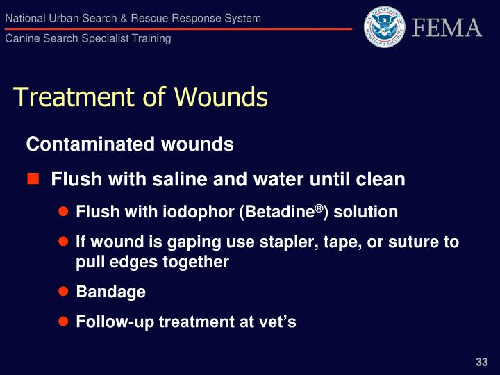 Treatment of Wounds