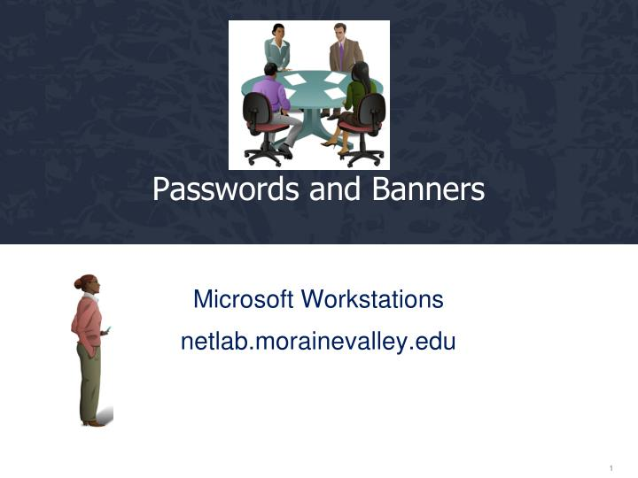 passwords and banners n.
