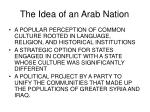 the idea of an arab nation