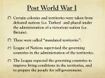post world war i
