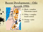 recent developments oslo accords 1990s