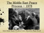 the middle east peace process 1978