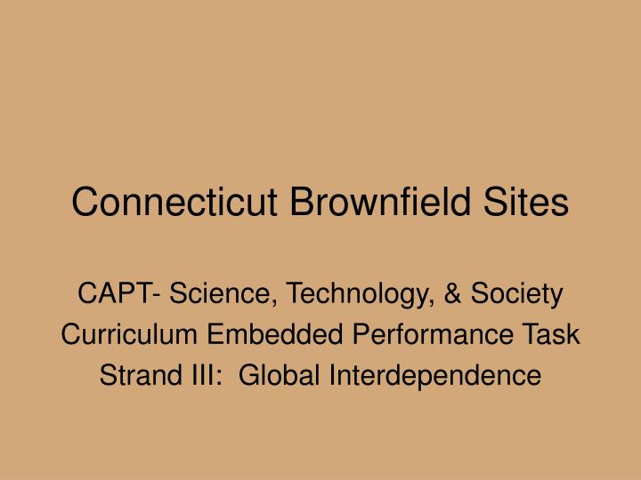 connecticut brownfield sites n.