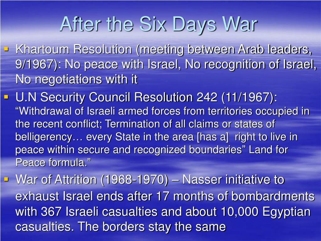 After the Six Days War