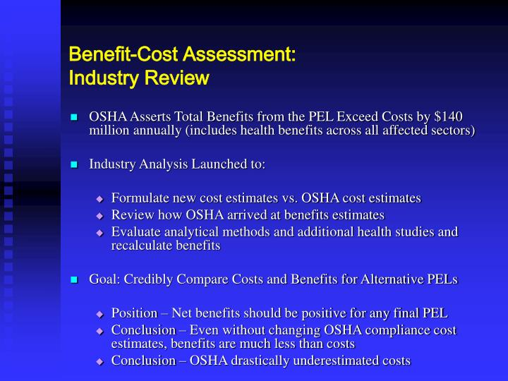 Benefit-Cost Assessment: