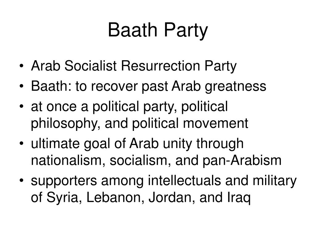 Baath Party
