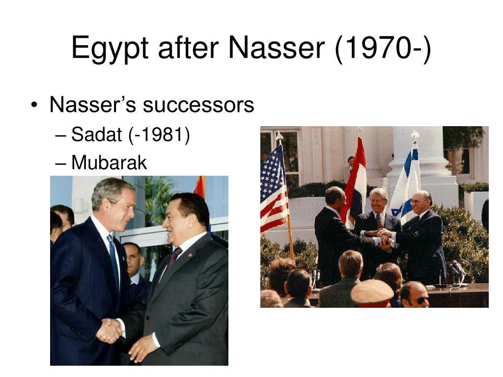 Egypt after Nasser (1970-)