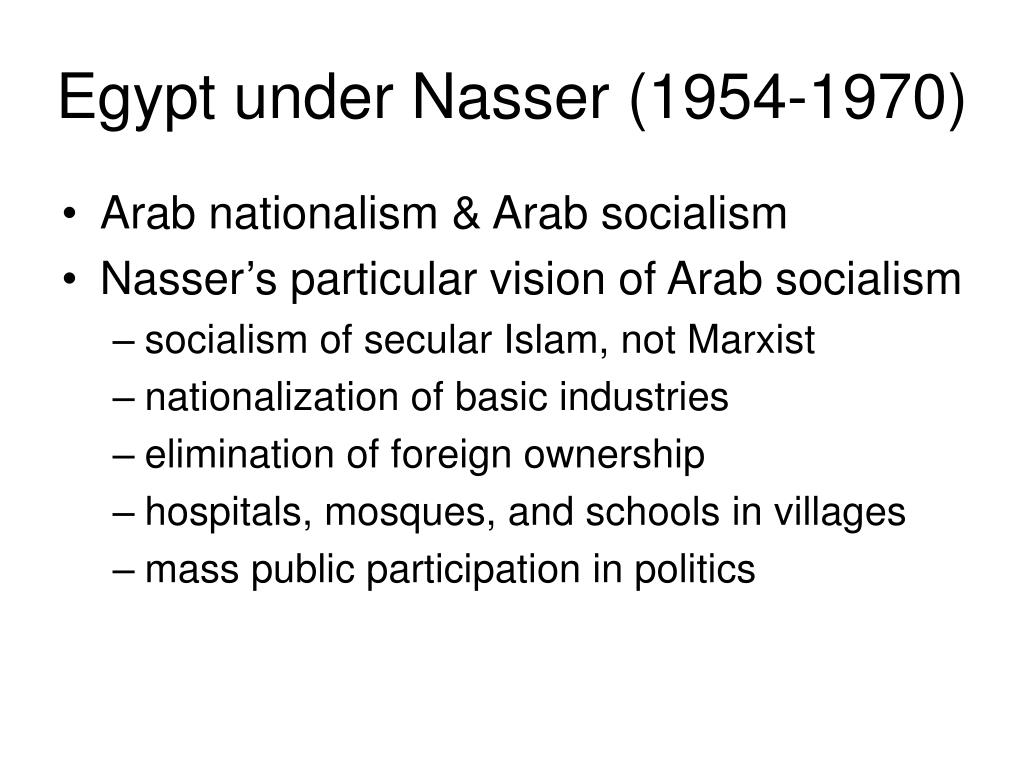 Egypt under Nasser (1954-1970)