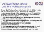 die qualifikationsphase und ihre profile schwerpunkte