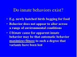do innate behaviors exist