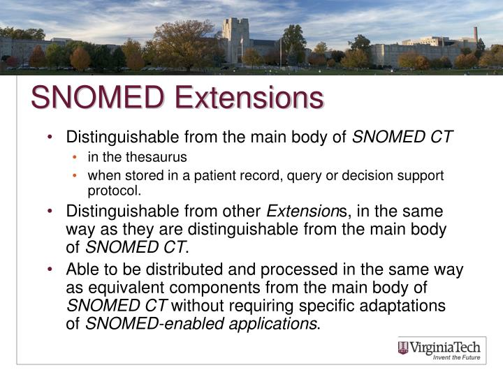 SNOMED Extensions