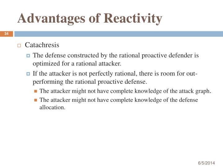 Advantages of Reactivity