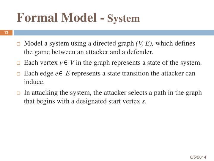 Formal Model -