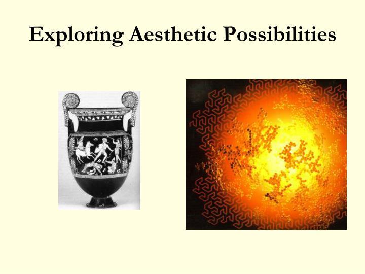 Exploring Aesthetic Possibilities