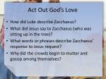 act out god s love