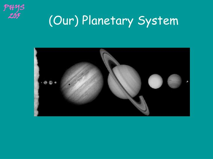 our planetary system n.