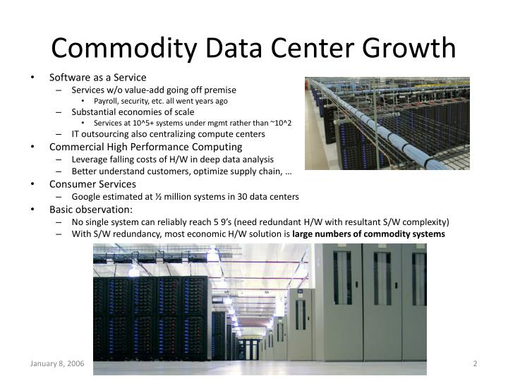 Commodity data center growth