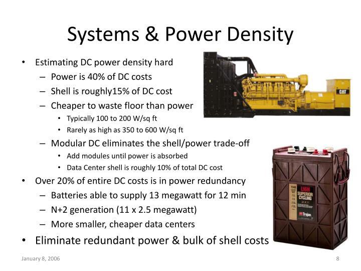 Systems & Power Density