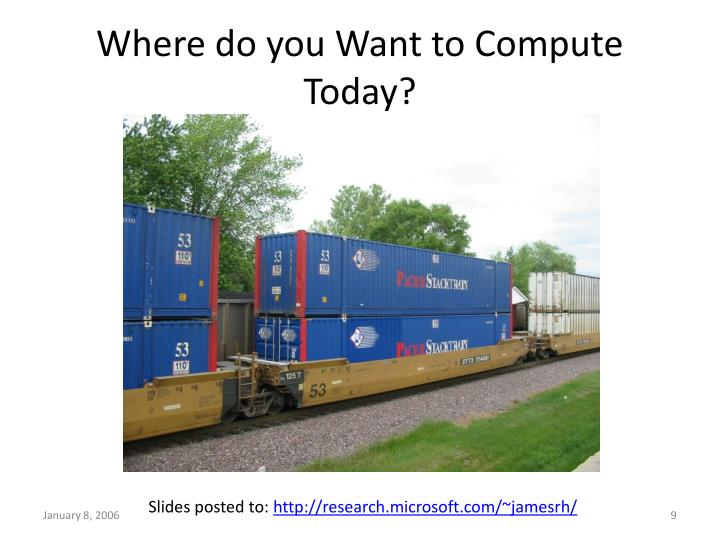 Where do you Want to Compute Today?