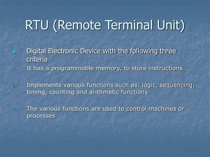 RTU (Remote Terminal Unit)