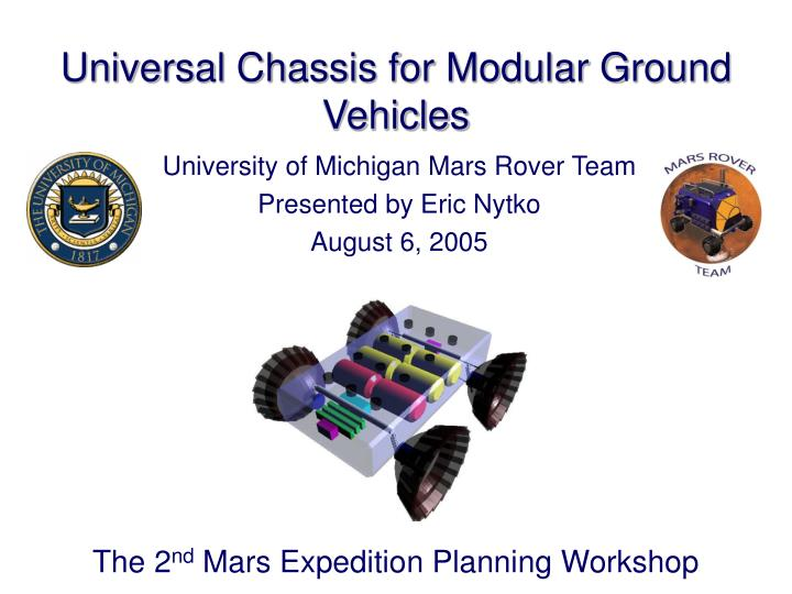 universal chassis for modular ground vehicles n.