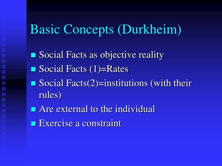 Basic Concepts (Durkheim)