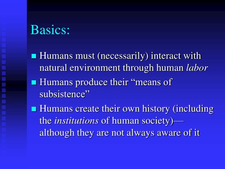 Basics: