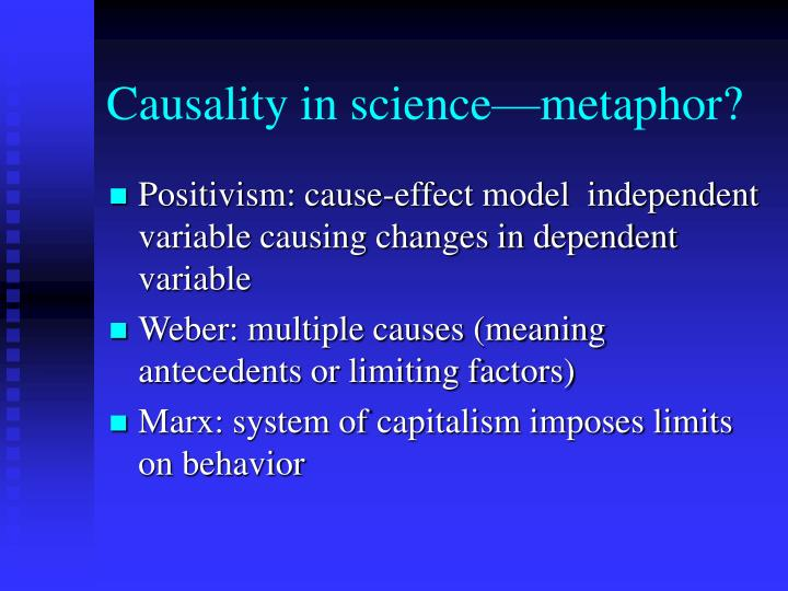 Causality in science—metaphor?