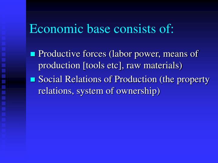 Economic base consists of: