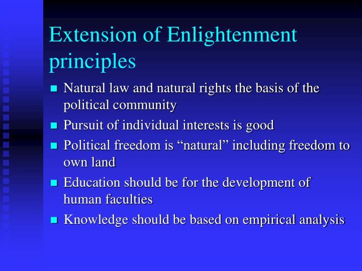 Extension of Enlightenment principles