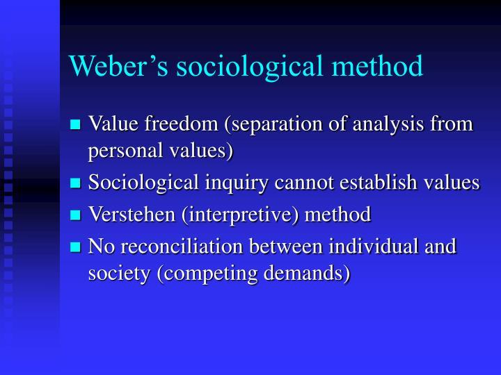 Weber's sociological method