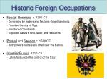 historic foreign occupations